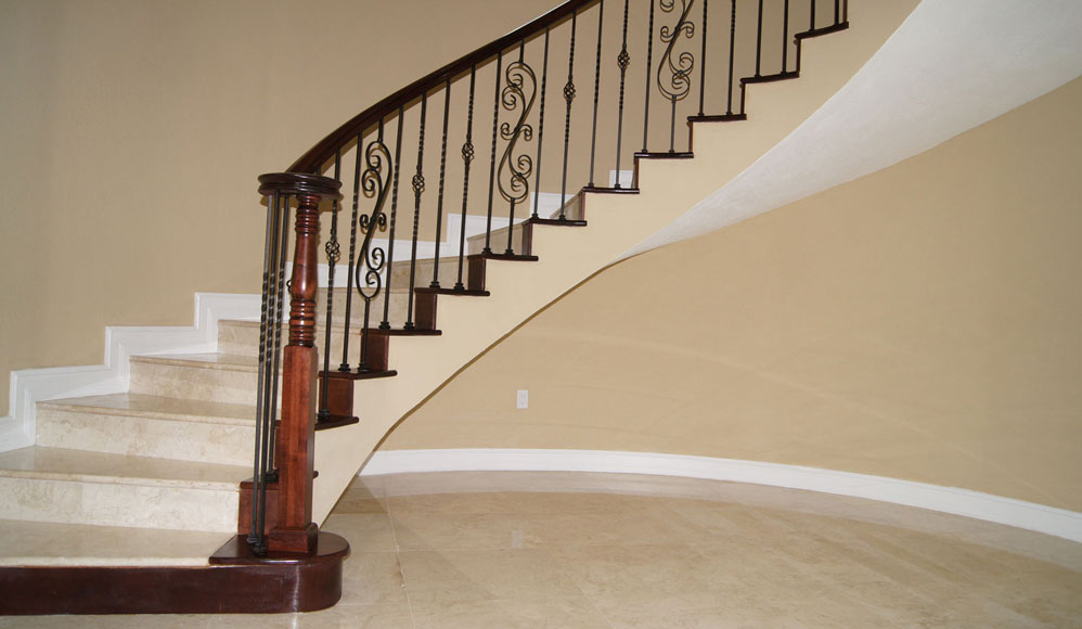 Stairs glass railings stainless railings wood for Stair and railing solution
